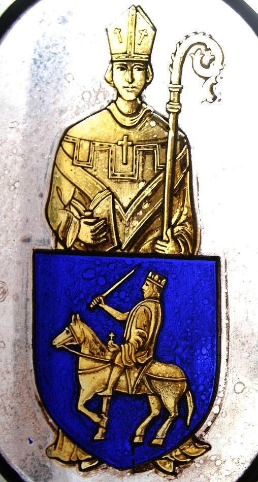 15. Blason de Herstal. Saint Lambert et Charlemagne copyright MCH