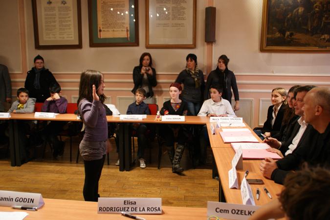 Cérémonie de mise en place du Conseil communal des enfants 2010-2011
